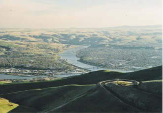 The confluence of the Snake and Clearwater Rivers (Lewiston & Clarkston)