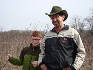 joel and noah out on a hike