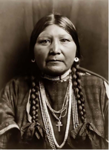 Portrait of a Nez Perce woman