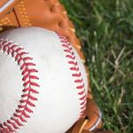 baseball glove and grass