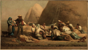 """Harvesters Resting (Ruth and Boaz),"" 1853, by Jean-Francois Millet (French, 1814–1875)."